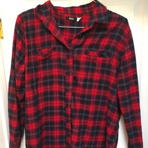 Urban outfitters BDG Red flannel top